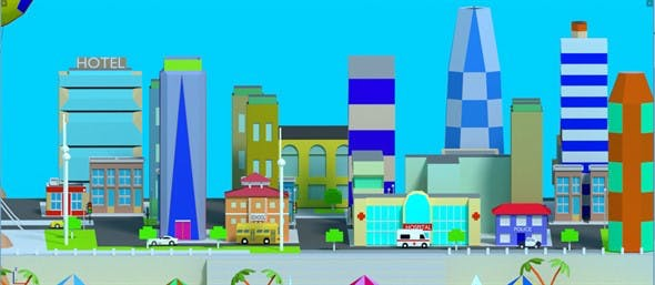 low poly The diverse city - 3DOcean Item for Sale