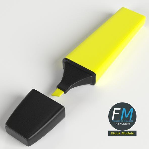 Highlighter Stationery - 3DOcean Item for Sale