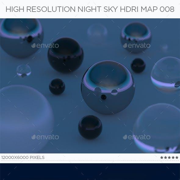 High Resolution Night Sky HDRi Map 008