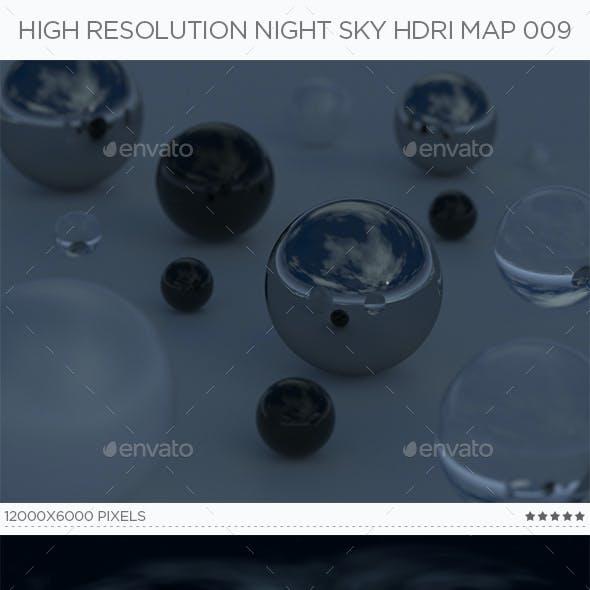 High Resolution Night Sky HDRi Map 009