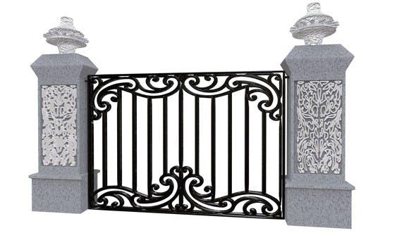 Exterior Gate architectural DOOR - 3DOcean Item for Sale
