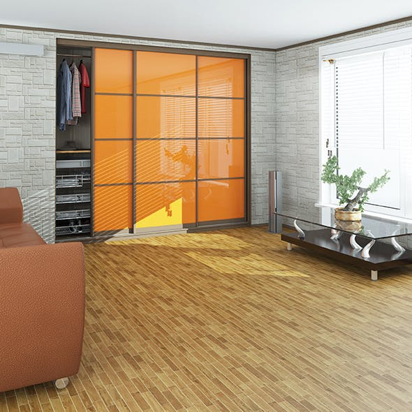 Wardrobe and window with blinds - 3DOcean Item for Sale