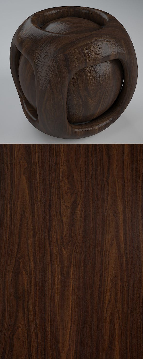 Real Plywood Vray Material California Walnut - 3DOcean Item for Sale
