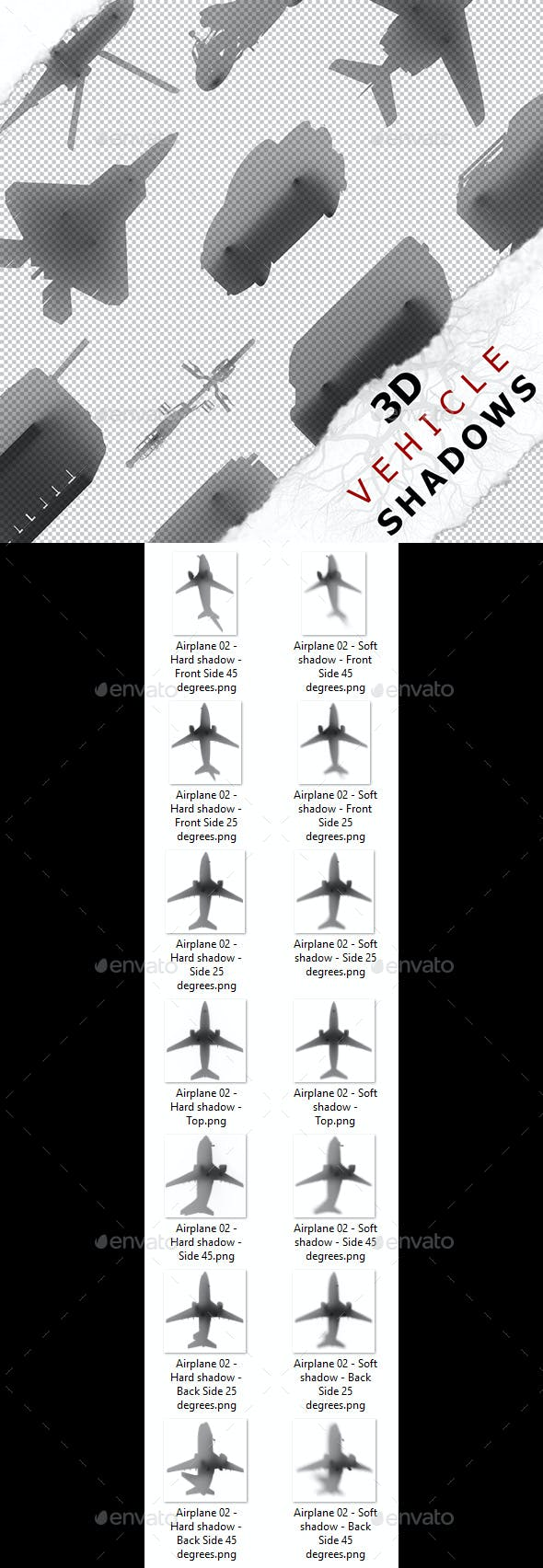 3D Shadow - Airplane 02 - 3DOcean Item for Sale