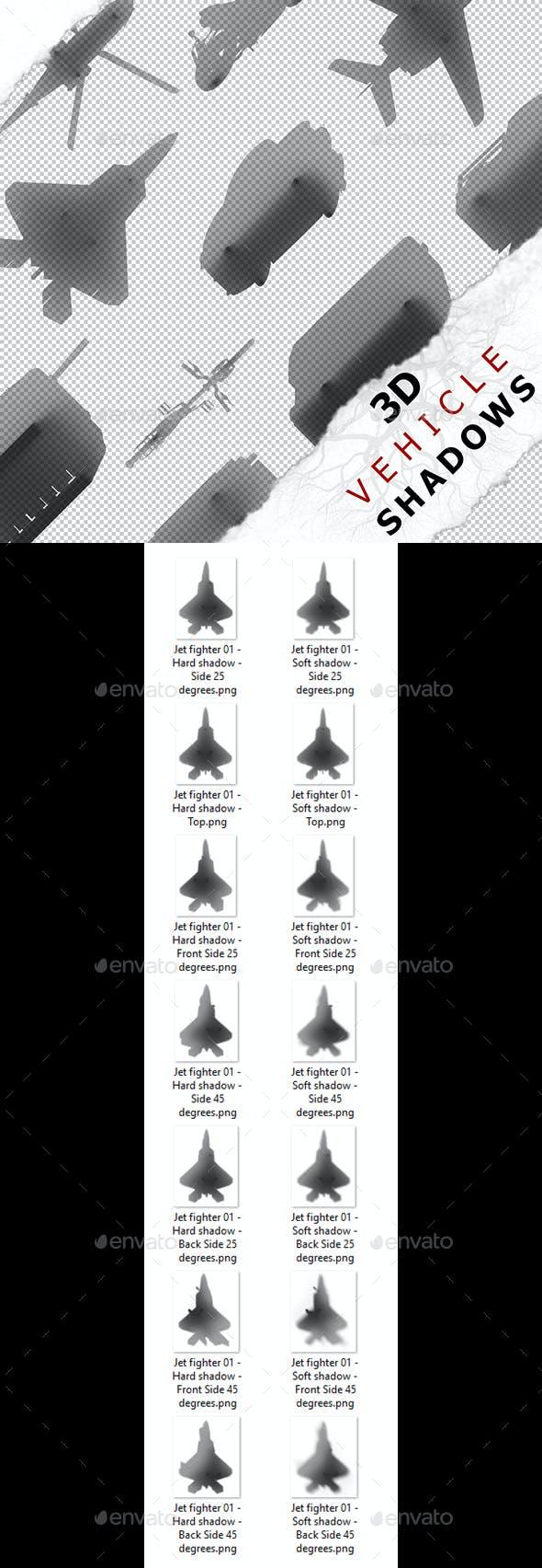 3D Shadow - Jet fighter 01 - 3DOcean Item for Sale