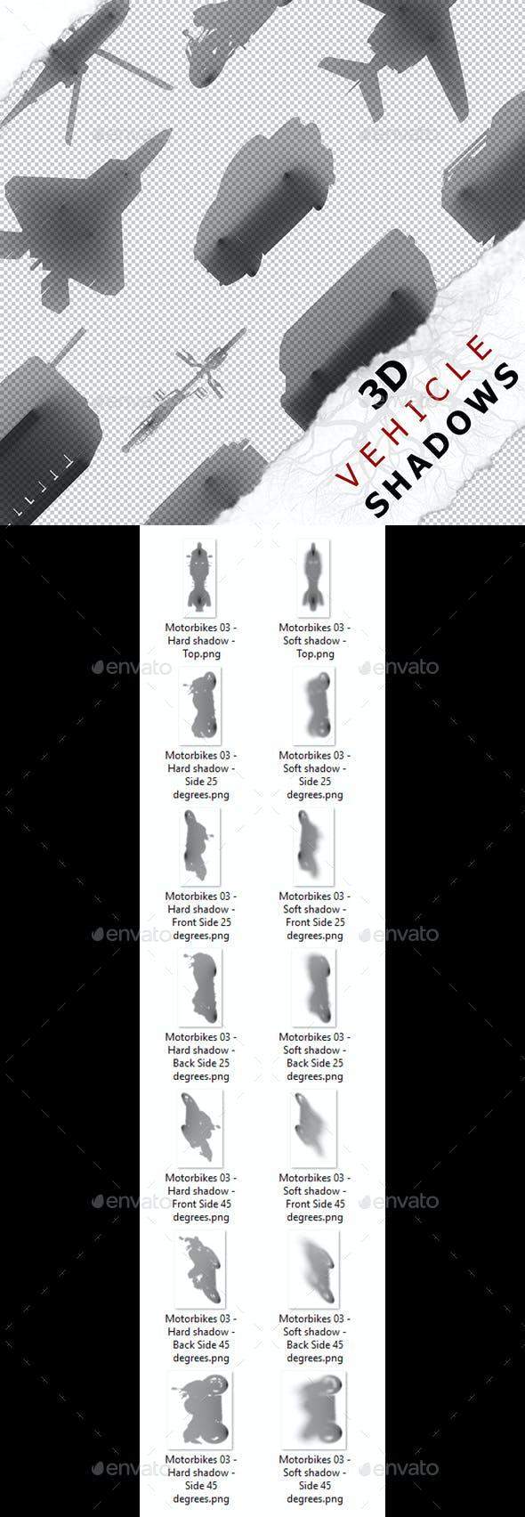 3D Shadow - Motorbikes 03 - 3DOcean Item for Sale