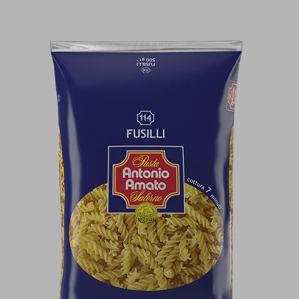 Spaghetti packet 3D model - 114 3D model