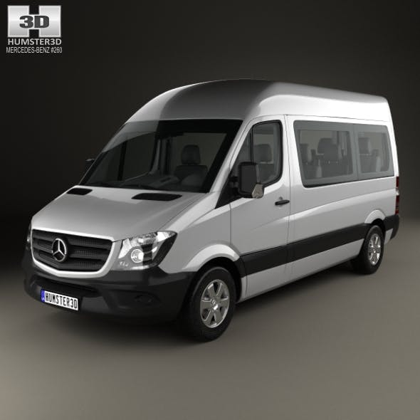 Mercedes-Benz Sprinter Passenger Van SWB HR with HQ interior 2013 - 3DOcean Item for Sale