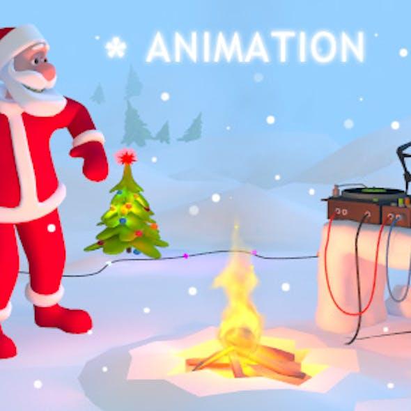 Santa Party 3D Animaton Kit