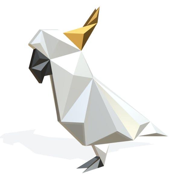 Parrot figure lowpoly - 3DOcean Item for Sale