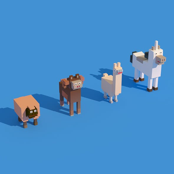 Low Poly Animals - 3DOcean Item for Sale