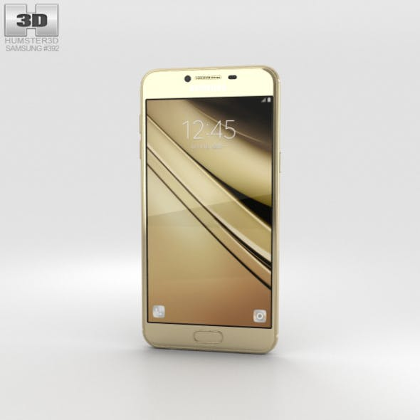 Samsung Galaxy C7 Gold - 3DOcean Item for Sale