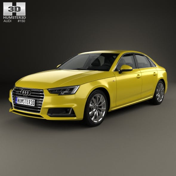 Audi A4 S-Line 2016 - 3DOcean Item for Sale