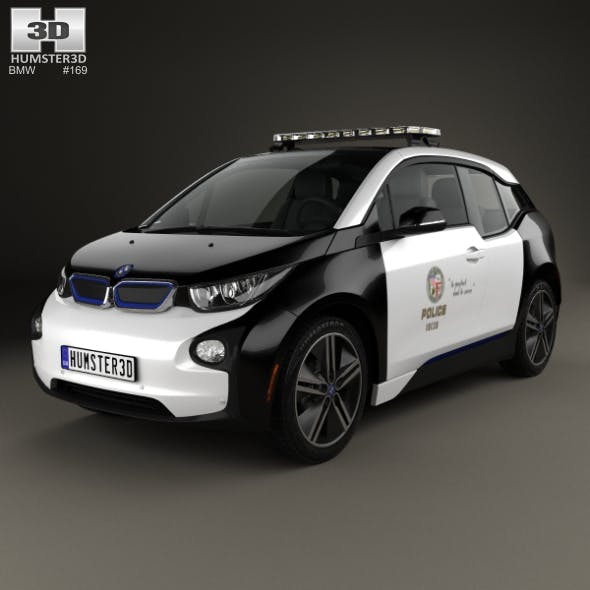 BMW i3 Police LAPD 2016 - 3DOcean Item for Sale