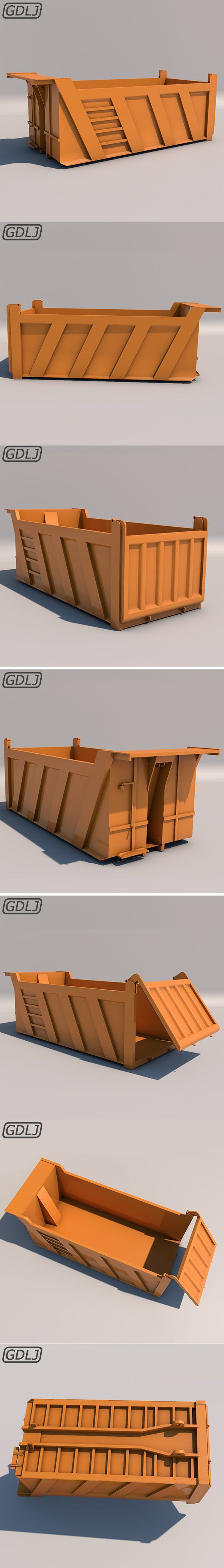 Mercedes Benz 1924-2624 Container - Tipper - 3DOcean Item for Sale