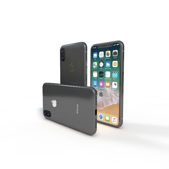IPHONE X Model Element 3d v 2.2 - 3DOcean Item for Sale