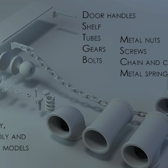 Door handle, tubes, bolts, chain, screw and more