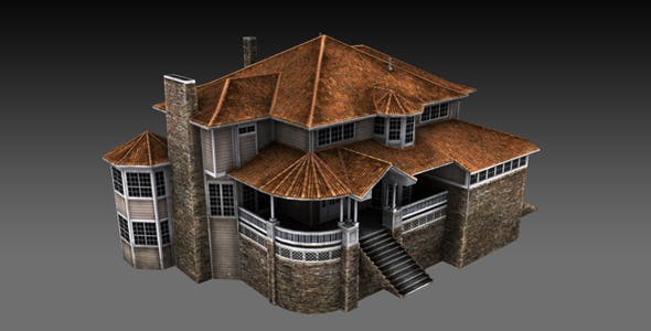 Old Luxury House low poly 3D model - 3DOcean Item for Sale
