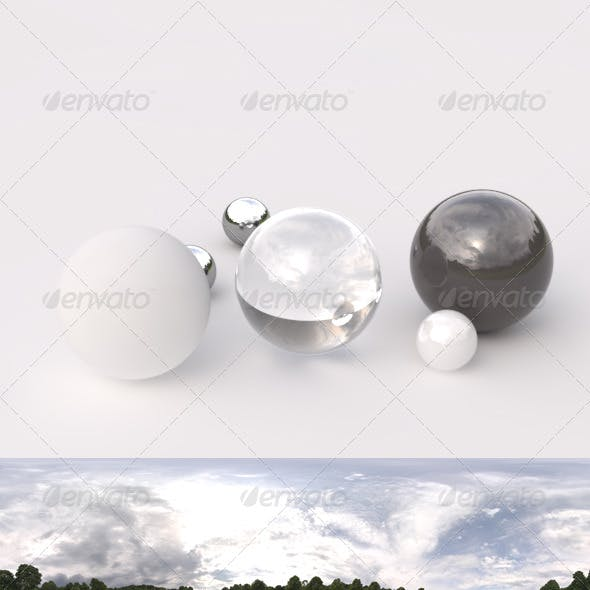 HDRI spherical panorama - 1630- cloudy sky