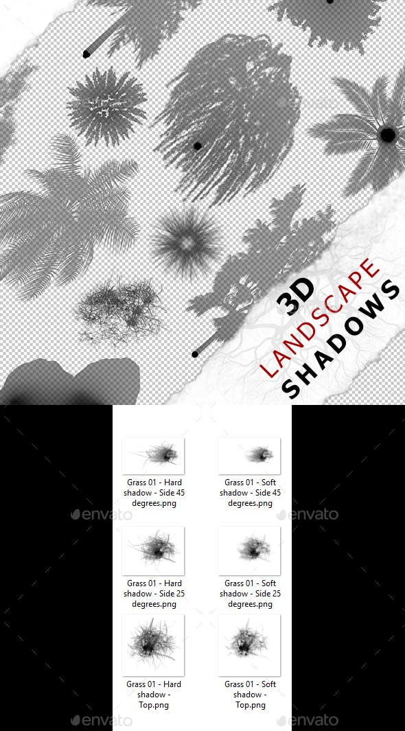 3D shadow - Grass 01 - 3DOcean Item for Sale