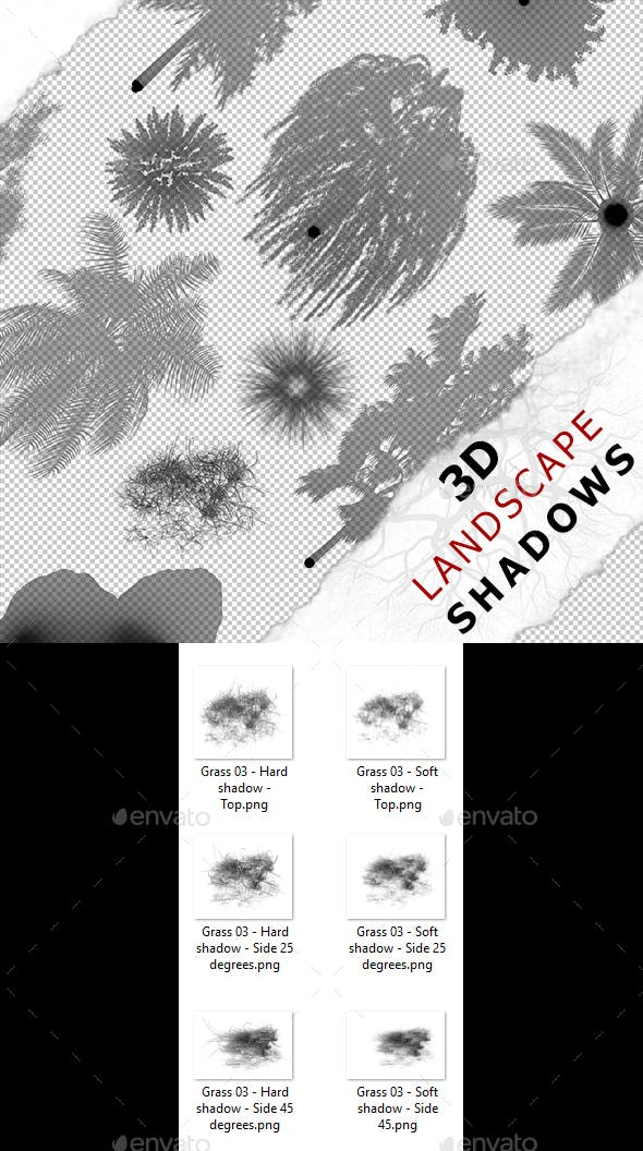 3D Shadow - Grass 03 - 3DOcean Item for Sale