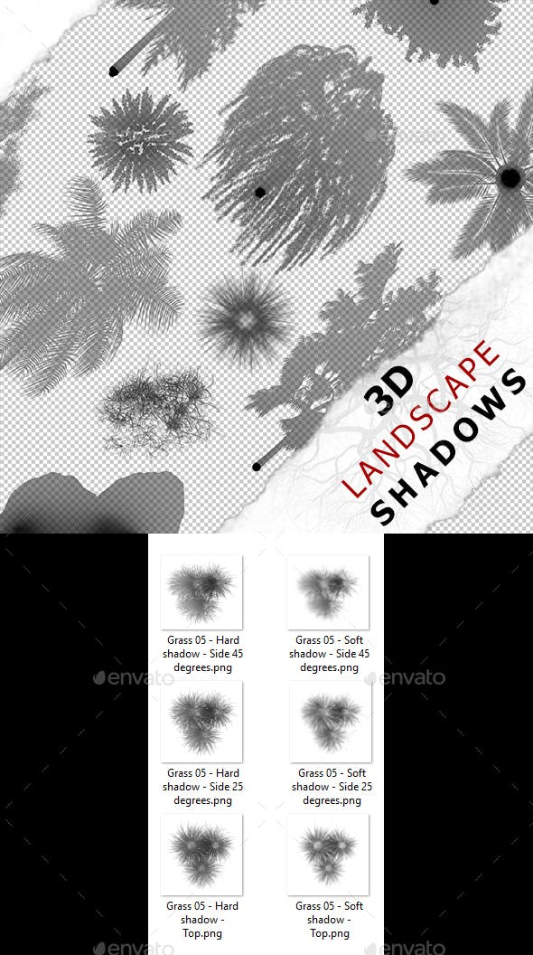 3D Shadow - Grass 05 - 3DOcean Item for Sale