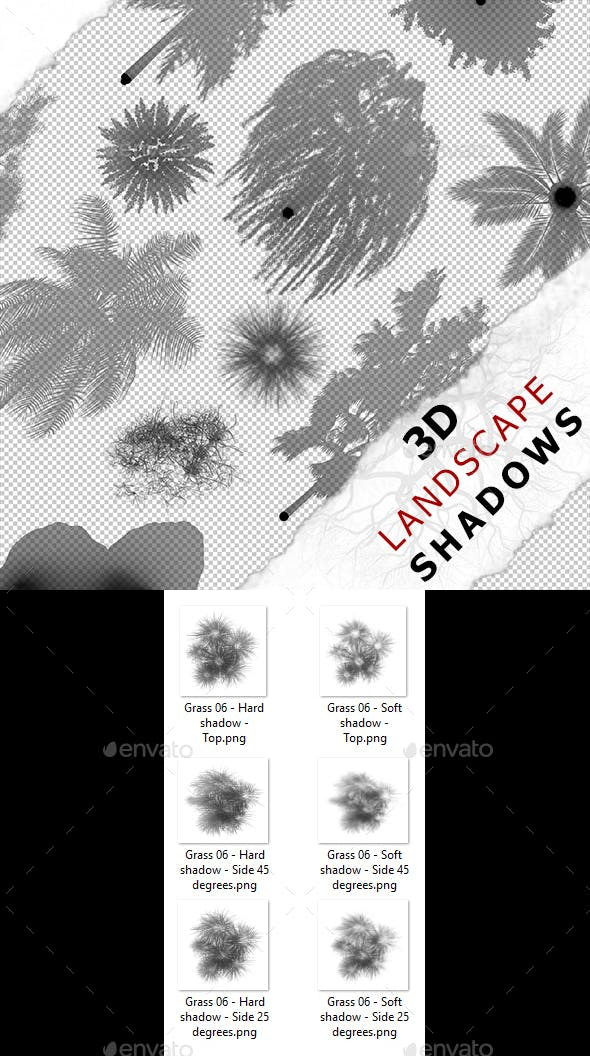 3D Shadow - Grass 06 - 3DOcean Item for Sale