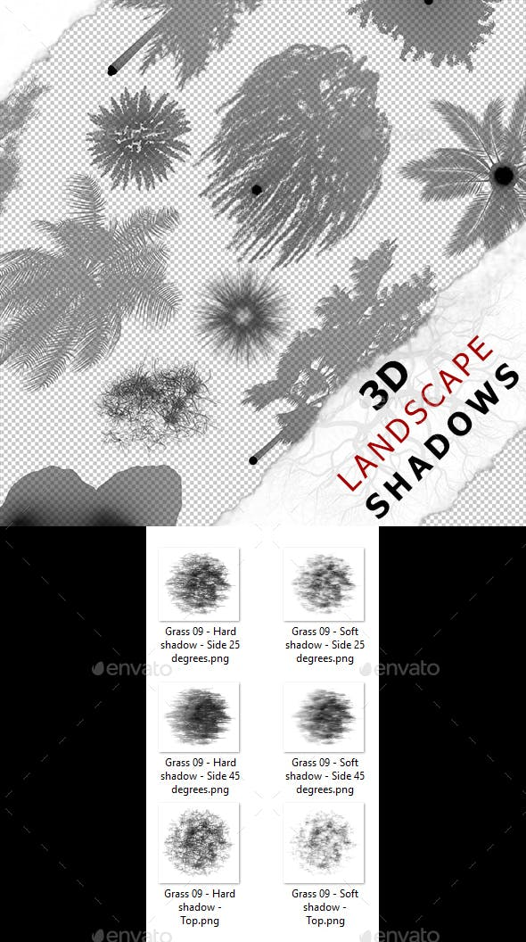 3D Shadow - Grass 09 - 3DOcean Item for Sale