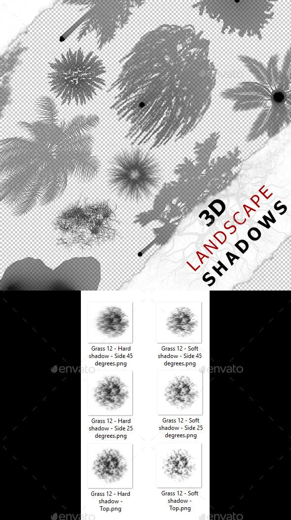 3D Shadow - Grass 12 - 3DOcean Item for Sale