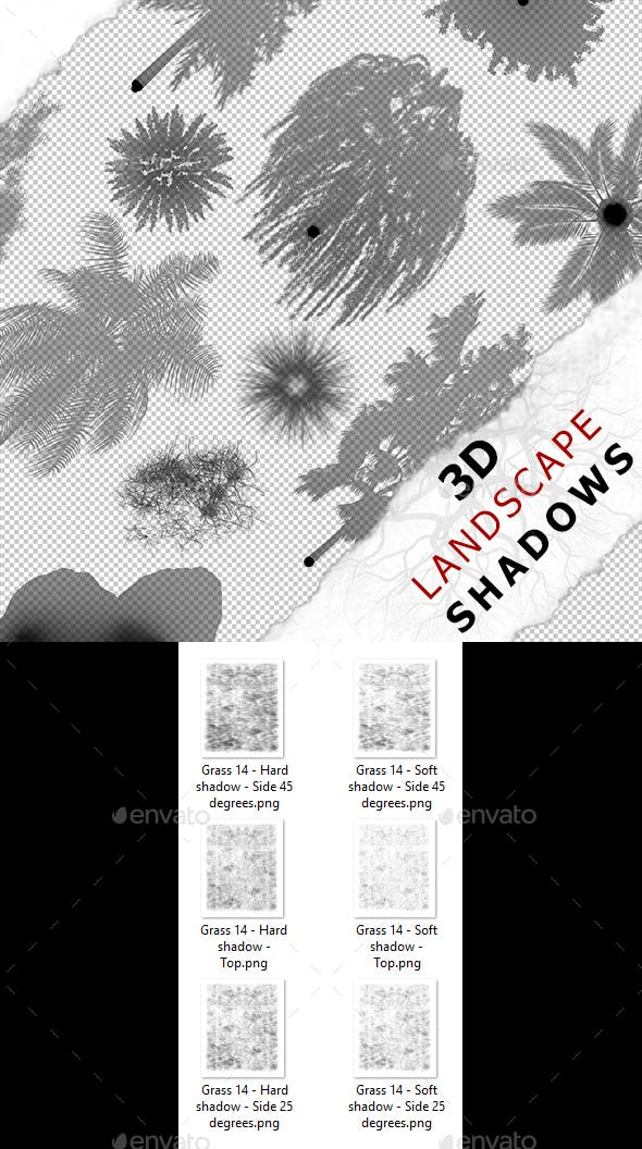 3D Shadow - Grass 14 - 3DOcean Item for Sale