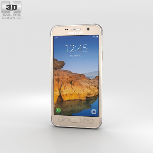 Samsung Galaxy S7 Active Sandy Gold - 3DOcean Item for Sale