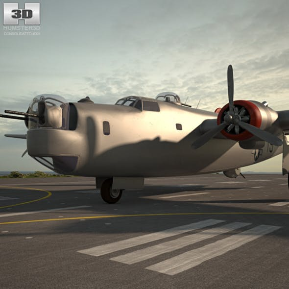 Consolidated B-24 Liberator - 3DOcean Item for Sale