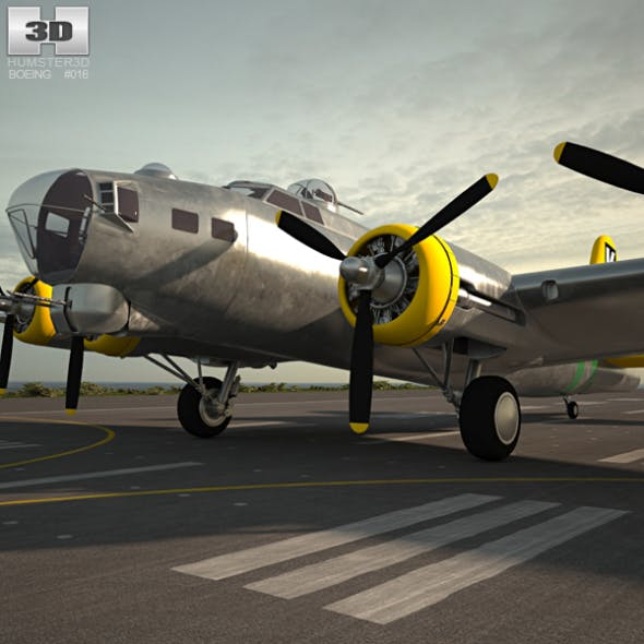 Boeing B-17 Flying Fortress - 3DOcean Item for Sale