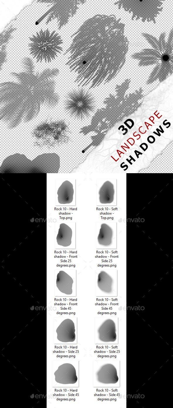 3D Shadow - Rock 10 - 3DOcean Item for Sale