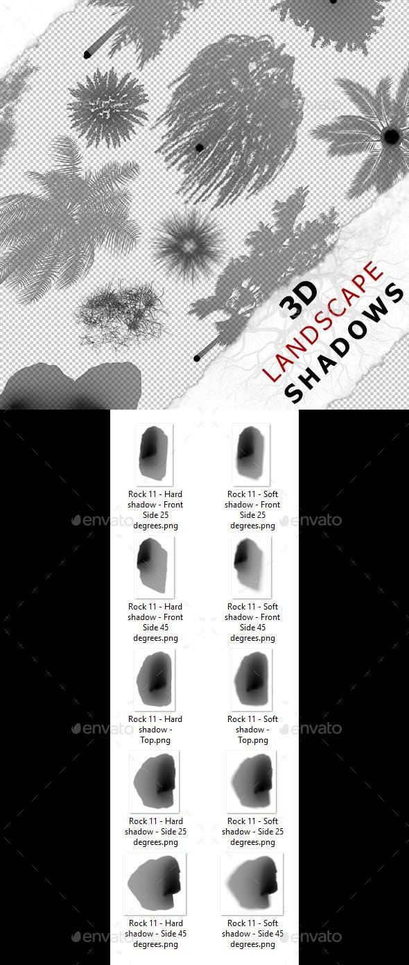 3D Shadow - Rock 11 - 3DOcean Item for Sale