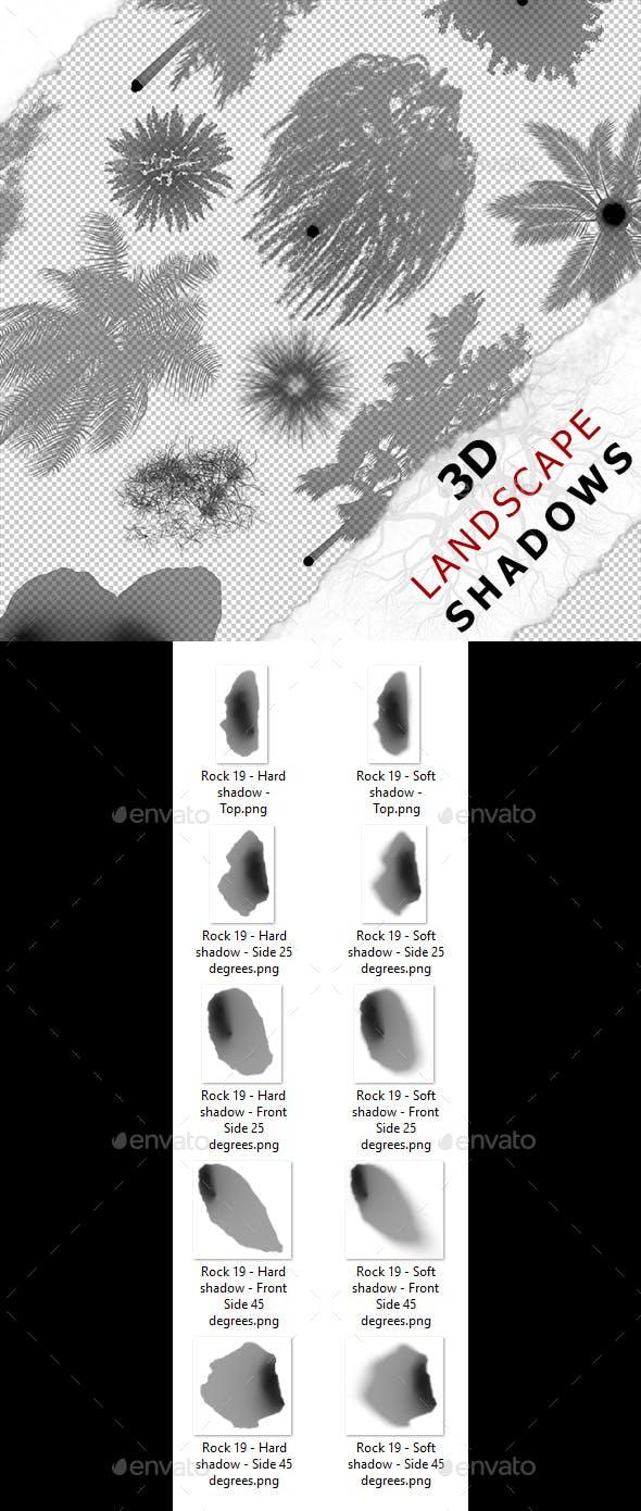 3D Shadow - Rock 19 - 3DOcean Item for Sale
