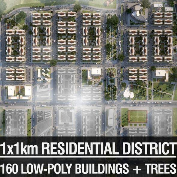 Neighborhood Houses 04 - 3DOcean Item for Sale