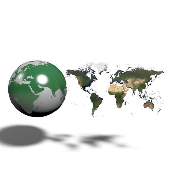 World Map Element v.2.2 - 3DOcean Item for Sale