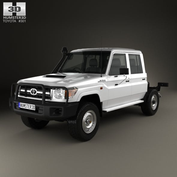 Toyota Land Cruiser (VDJ79R) Double Cab Chassis 2012 - 3DOcean Item for Sale
