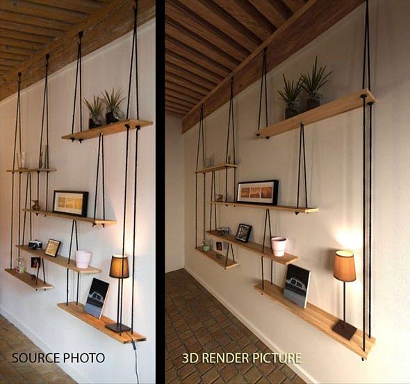 Suspended Hanging Shelves - 3DOcean Item for Sale