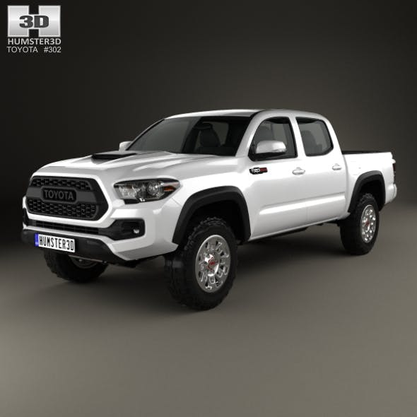 Toyota Tacoma Double Cab TRD Pro 2017 - 3DOcean Item for Sale