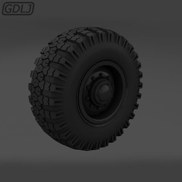 Off-road wheel Tires - 3DOcean Item for Sale