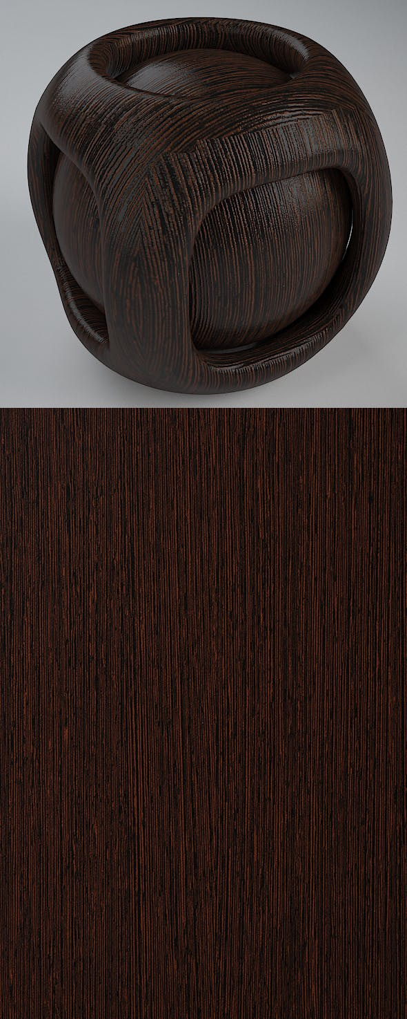 Real Plywood Vray Material New Zen Wenge - 3DOcean Item for Sale