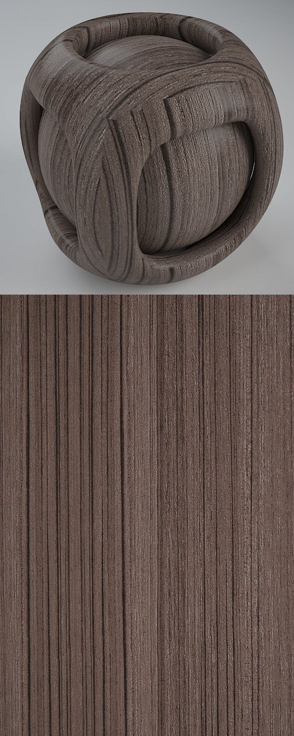 Real Plywood Vray Material Ash Zebrano - 3DOcean Item for Sale
