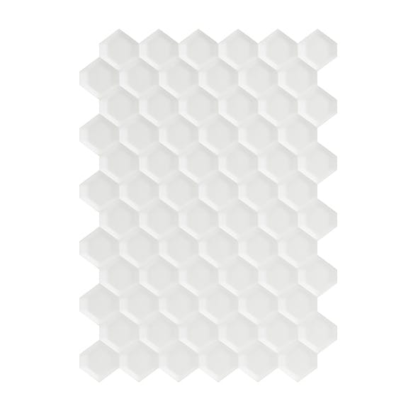 White Hexagonal Wall Panel 3D Model
