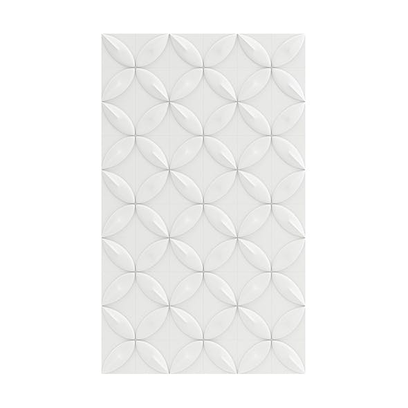 White Wall Panel 3D Model - 3DOcean Item for Sale