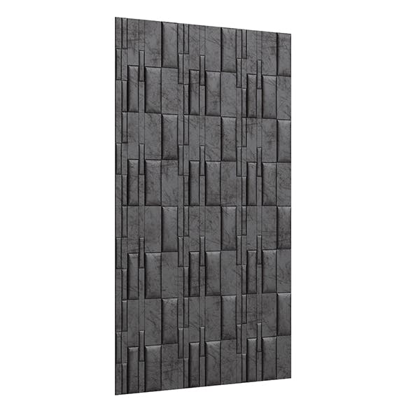Black Leather Wall Panel 3D Model - 3DOcean Item for Sale