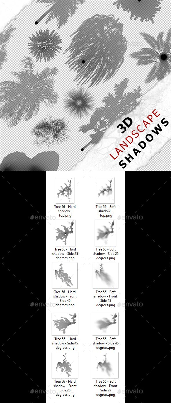 3D Shadow - Tree 56 - 3DOcean Item for Sale