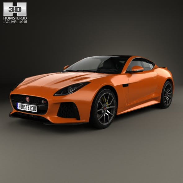Jaguar F-Type SVR Coupe 2016 - 3DOcean Item for Sale