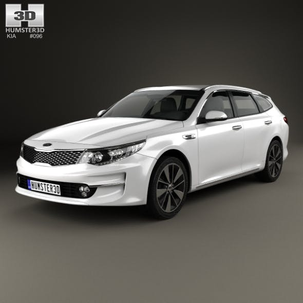 Kia Optima wagon 2017 - 3DOcean Item for Sale